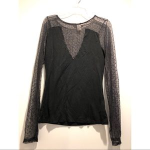 Beautiful mesh sleeves and upper chest shirt!